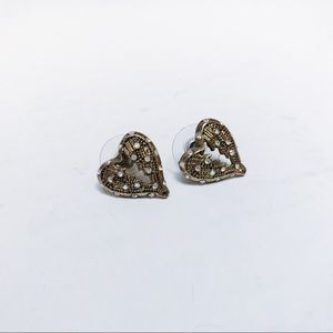 Betsey Johnson - Angel Wing Heart Earrings